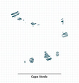 Doodle sketch of Cape Verde map vector image vector image