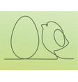 easter one line drawing chicken vector image