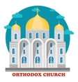 Eastern orthodox christian church with domes vector image
