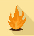eternal fire icon flat style vector image