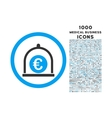 Euro Standard Rounded Icon with 1000 Bonus Icons vector image vector image