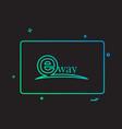 eway design card vector image