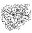 floral doodle zentangl vector image
