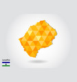 geometric polygonal style map of lesotho low poly vector image vector image