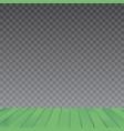 green wood floor on transparent background vector image