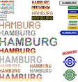 Hamburg text design set vector image vector image