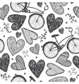 hand drawn romantic seamless pattern vector image