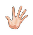 hand man palm showing five finger gesture image vector image vector image