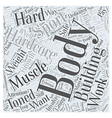 Hardcore Body Building Word Cloud Concept vector image vector image