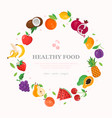 healthy food - modern colorful vector image vector image