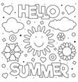 hello summer coloring page vector image vector image
