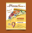 italian pizza house advertising banner vector image vector image
