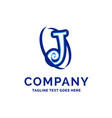 j company name design blue logo design vector image vector image