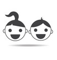 kids girl and boy childs icon isolated vector image vector image