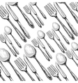 Kitchen utensils and equipment icon vector image