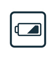 low battery icon Rounded squares button vector image vector image