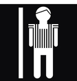 Man Icon On Black Background vector image vector image