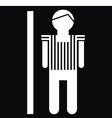Man Icon On Black Background vector image