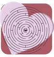 maze with heart vector image