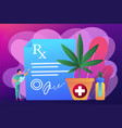 medical marijuana concept vector image vector image