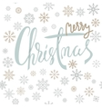 Merry Christmas silver lettering design with gold vector image vector image