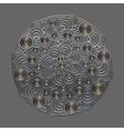 Metal circular vector image vector image
