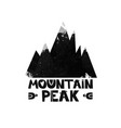 mountain top peak lettering the text watercolor