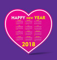 new year 2018 calendar design vector image
