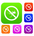 no mosquito sign set collection vector image vector image
