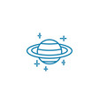 observing planets linear icon concept observing vector image vector image