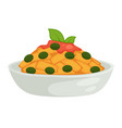 pasta sauce and olives isolated dish pastry food vector image vector image
