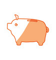 piggy savings money vector image vector image