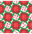 red poinsettia seamless pattern background vector image vector image
