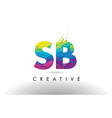 sb s b colorful letter origami triangles design vector image vector image