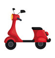 scooter motorcycle isolated icon vector image vector image