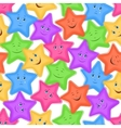 Seamless Pattern Colorful Stars Smiley