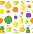 seamless pattern fruits and berries vector image vector image