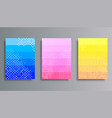 set colorful gradient backgrounds with halftone vector image