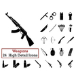 Set of 24 Weapon Icons vector image vector image