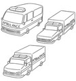 set of ambulance vector image vector image