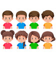 set of boys and girls vector image