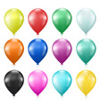 set of colorful balloons vector image vector image
