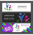set of horizontal banners for your business with vector image vector image
