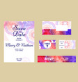 set of wedding invitations wedding cards template vector image vector image