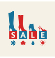 Shoe Sale vector image