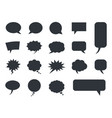 speech bubble icons set comic dialog vector image vector image