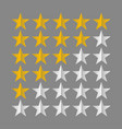 star rating symbols vector image