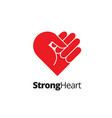 strong heart symbol vector image