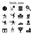 tennis icon set graphic design vector image vector image