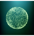 The Sphere Consisting of Points 3D Grid Design vector image